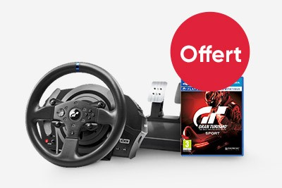 un volant thrustmaster t300rs achet un jeu de course offert. Black Bedroom Furniture Sets. Home Design Ideas