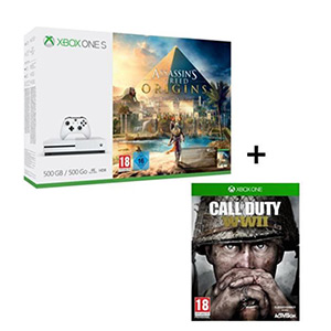 pack xbox one assassins origin+wwII